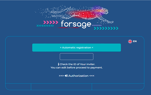 Forsage anonymous account creation